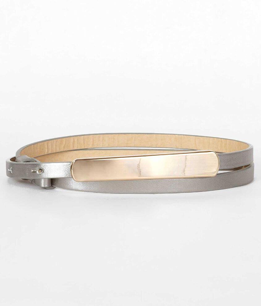 Adjustable Metallic Belt front view