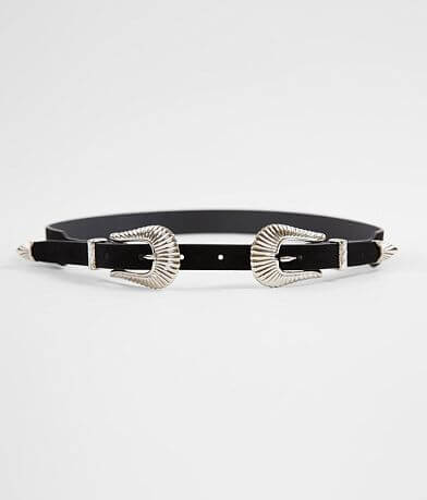 BKE Double Buckle Western Belt