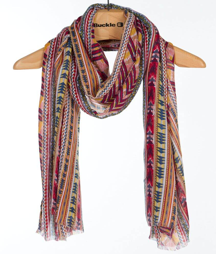 Southwestern Print Scarf front view