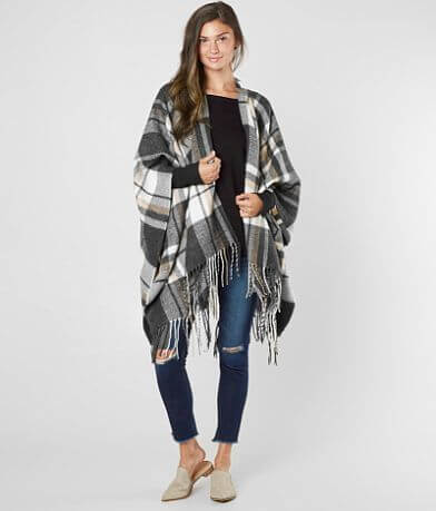 29 Palms Plaid Poncho