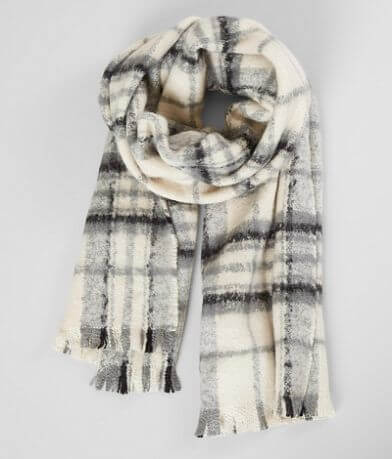 29 Palms Plaid Fringe Scarf