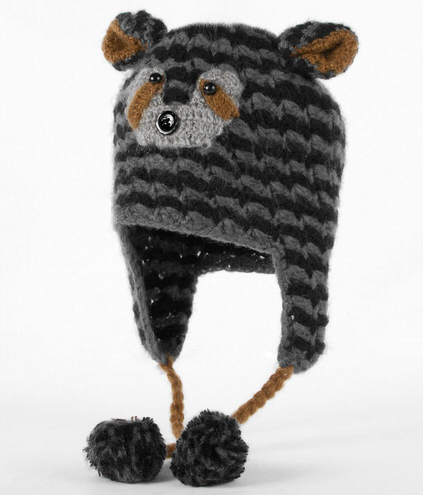 Racoon Critter Hat front view