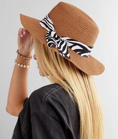 Zebra Banded Panama Hat