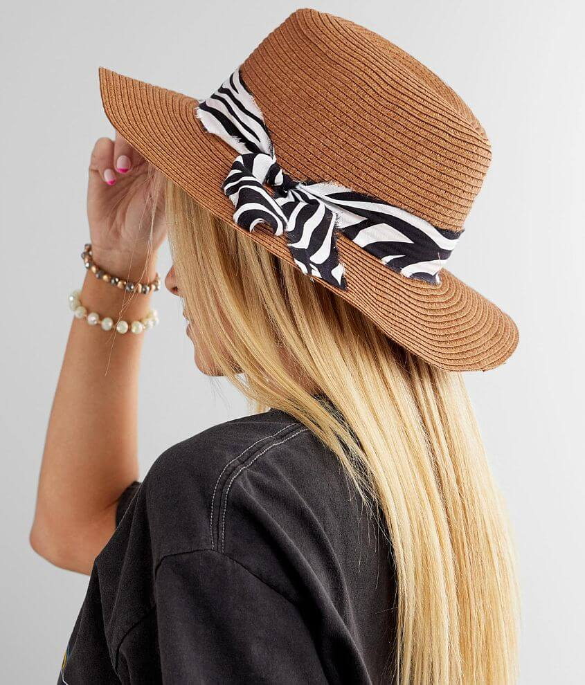 Zebra Banded Panama Hat front view