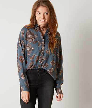 Amuse Society Printed Blouse