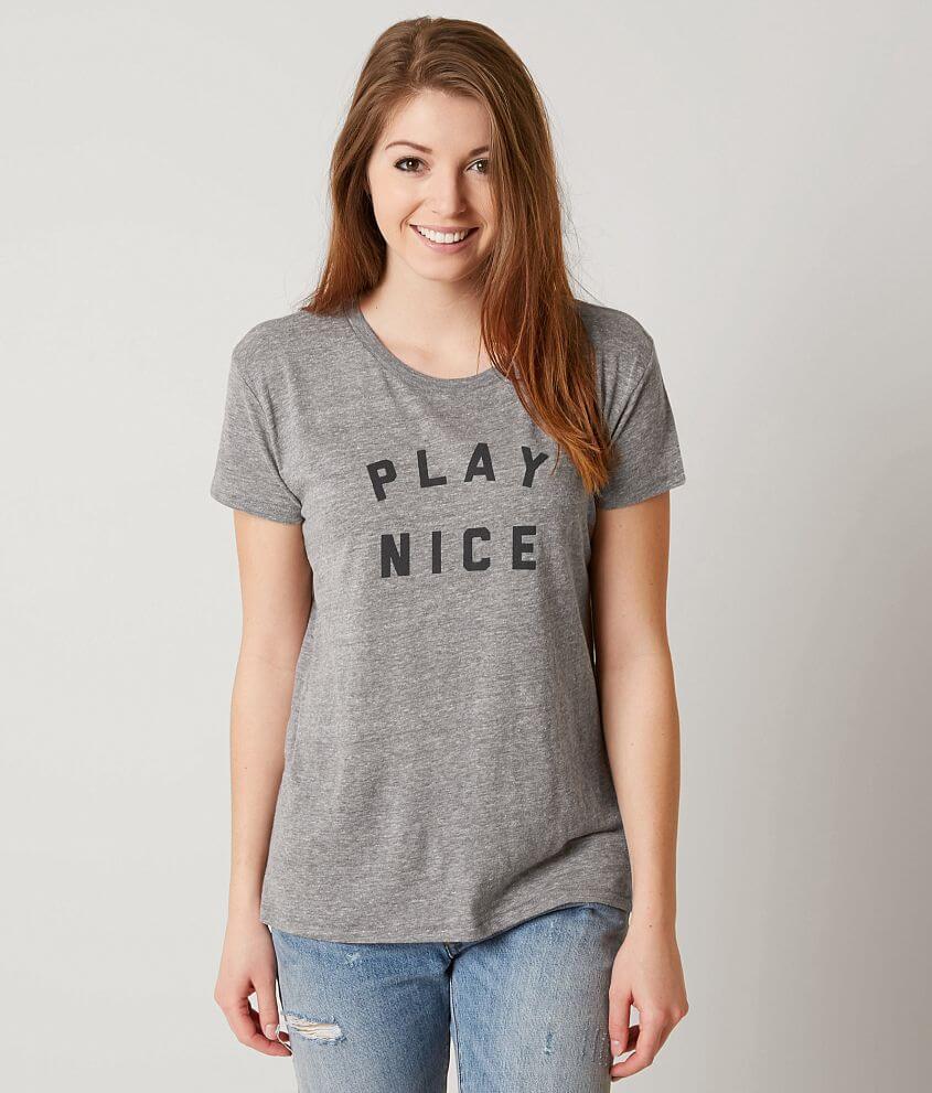 ae19f5b1c33 Amuse Society Play Nice T-Shirt - Women s T-Shirts in Dark Heather ...