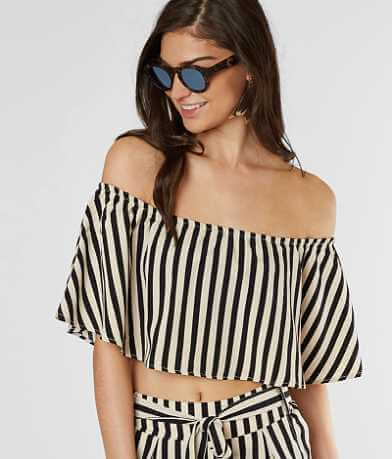 Amuse Society Total Flirt Cropped Top