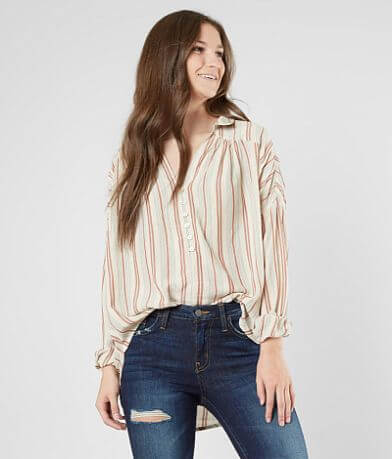 Amuse Society Sunny Shores Henley Top
