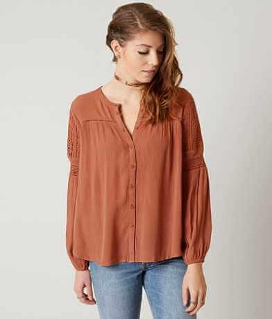 Amuse Society Crinkle Shirt