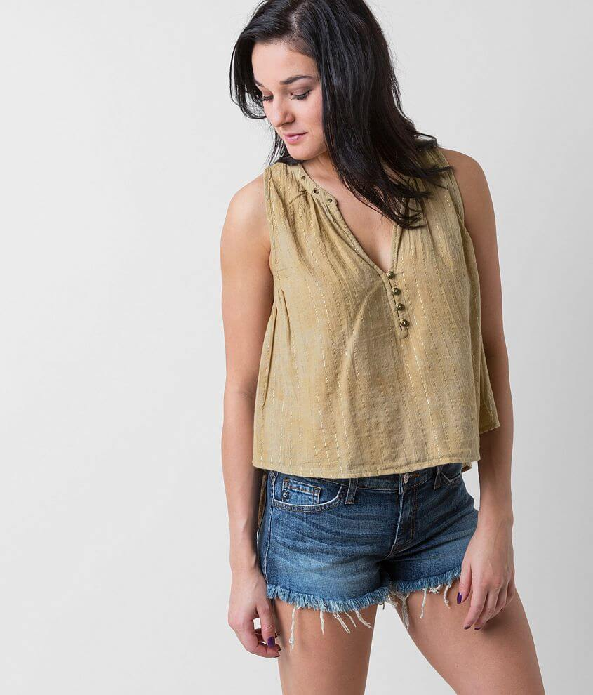 Amuse Society Marielle Henley Tank Top front view