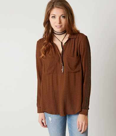 Amuse Society Sapphire Henley Top