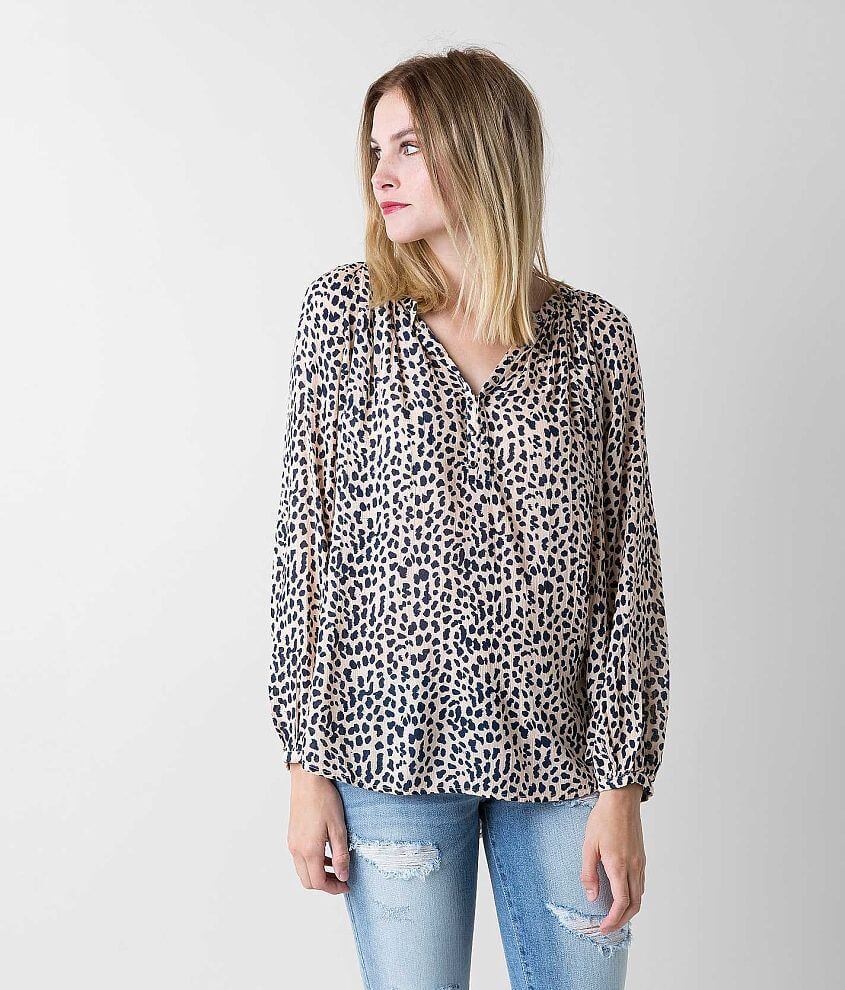 Amuse Society Wilde Henley Top front view