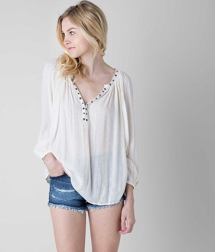Amuse Society Caden Henley Top front view