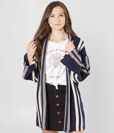 Amuse Society Smoke Signal Cardigan Sweater