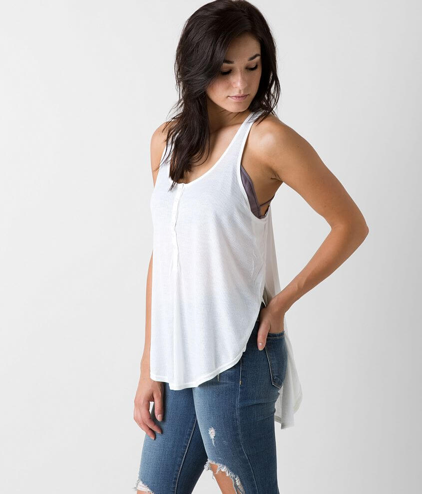 Amuse Society Liv Henley Tank Top front view