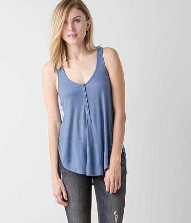 Amuse Society Liv Henley Tank Top