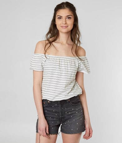 Amuse Society Wandering Off The Shoulder Top