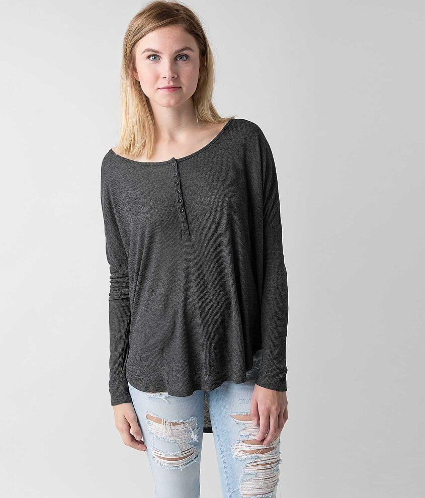 Amuse Society Riley Henley Top front view