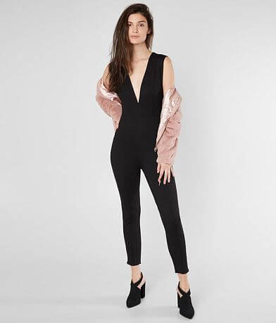 Amuse Society Cats Meow Cropped Jumpsuit