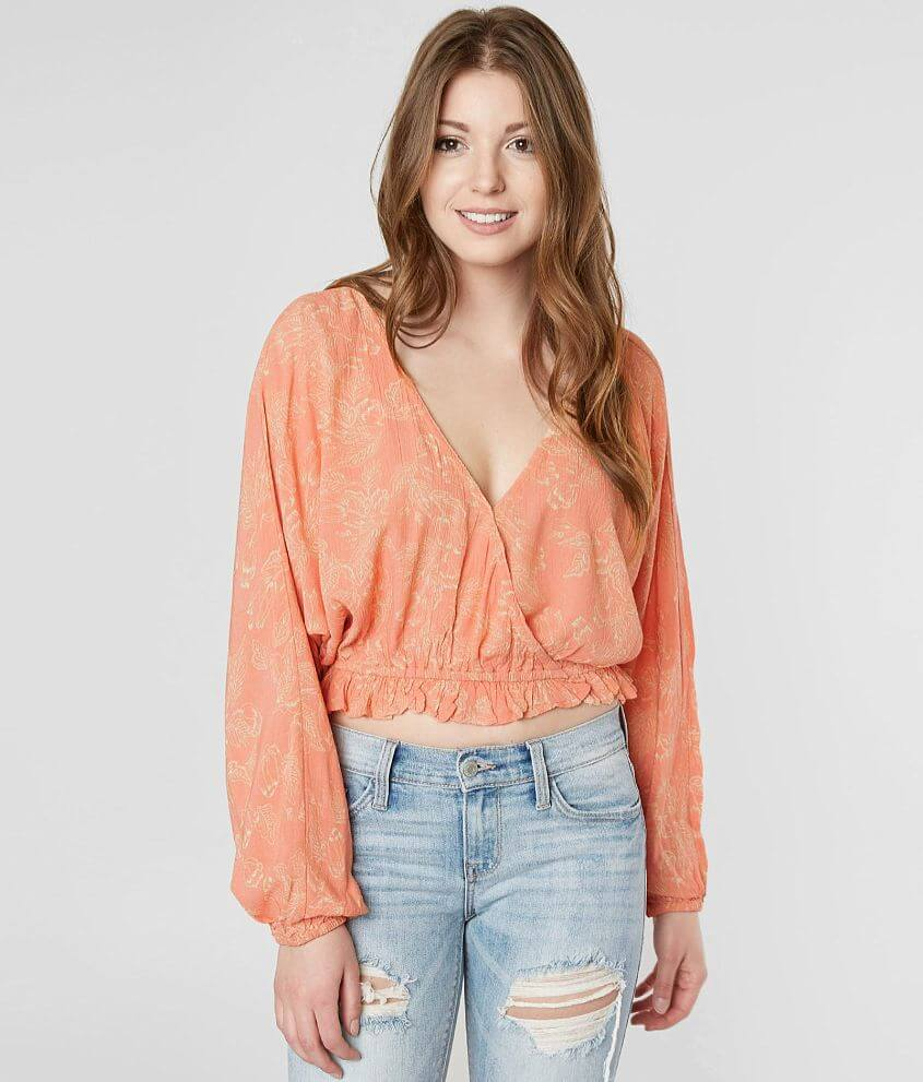 763b6f68058 Amuse Society Idyllic Cropped Top - Women's Shirts/Blouses in Pink ...
