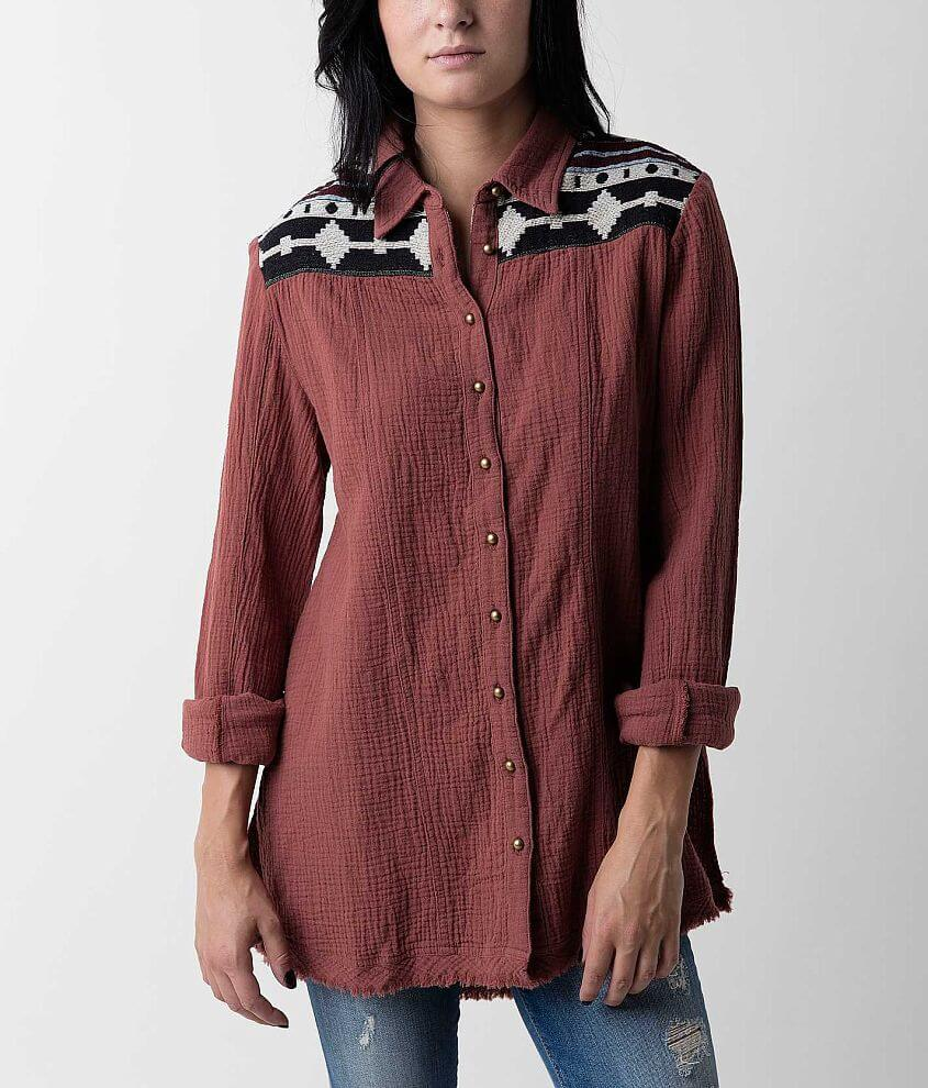 BKE Embroidered Shirt front view