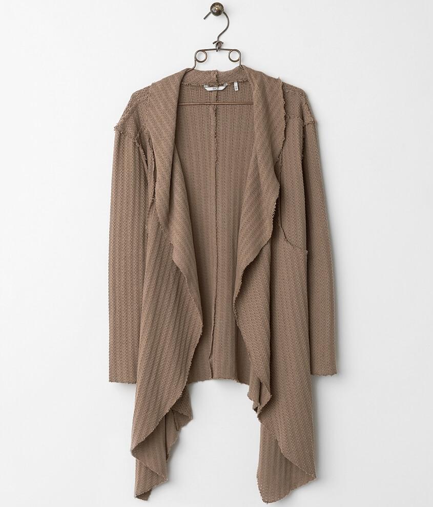 BKE Open Weave Cardigan Sweater - Women's Cardigans in Brown | Buckle