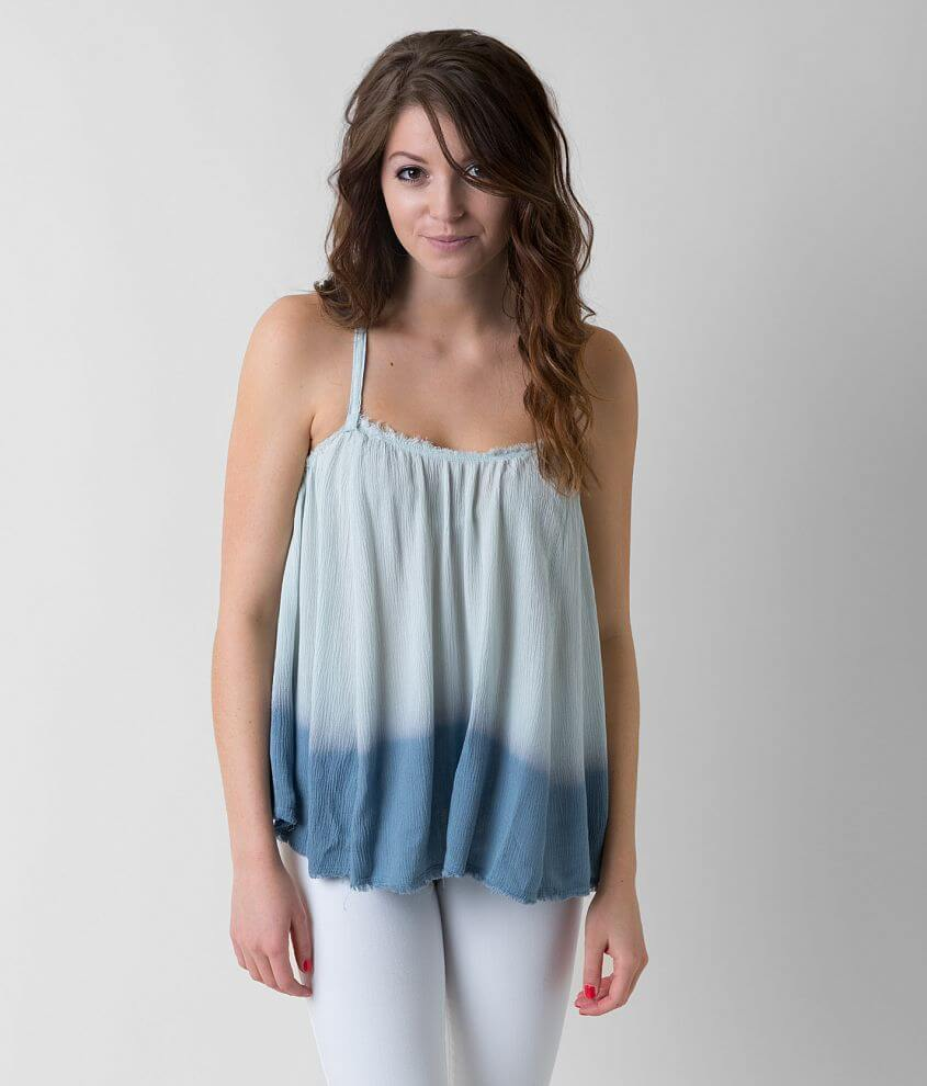 willow & root Raw Edge Tank Top front view