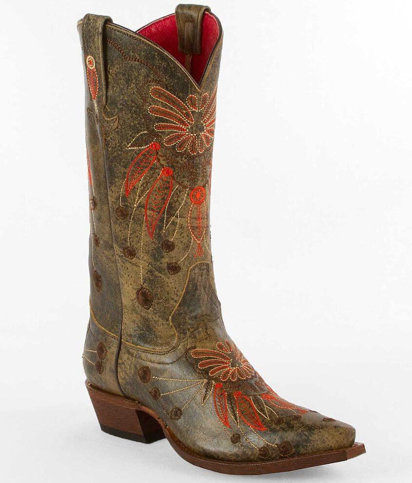 Macie Bean Blonde Monet Cowboy Boot front view