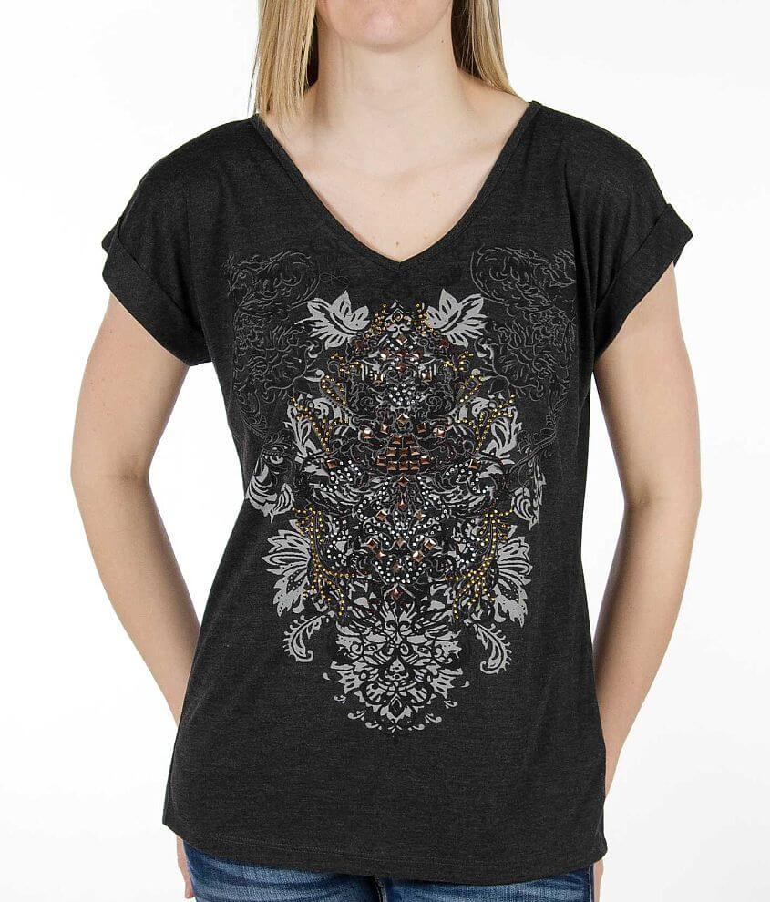 Daytrip Embellished V-Neck T-Shirt front view