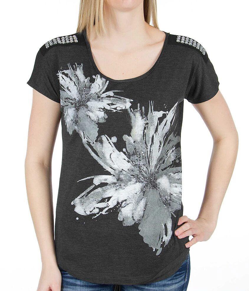 Daytrip Floral Graphic Top front view