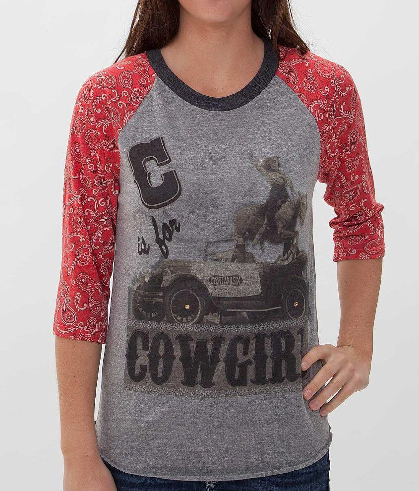 Gina C Is For Cowgirl T-Shirt front view