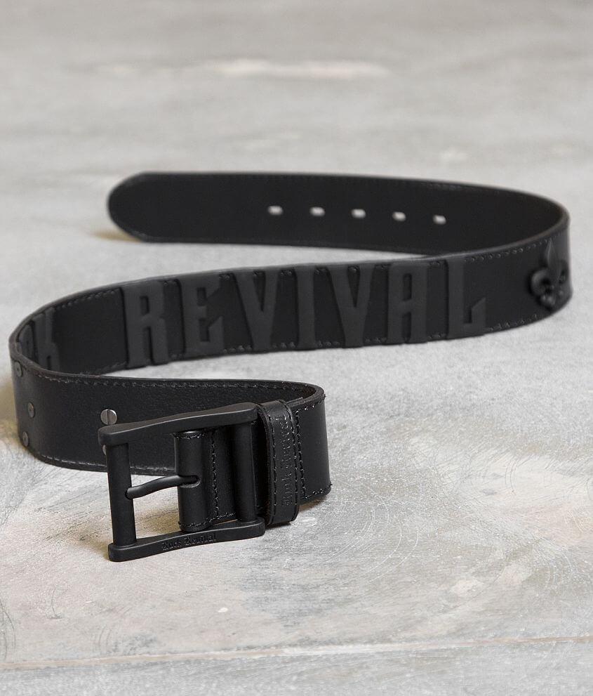 Rock Revival Rock Colorado Leather Belt front view