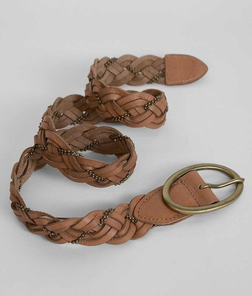 BKE Weaved Leather Belt front view