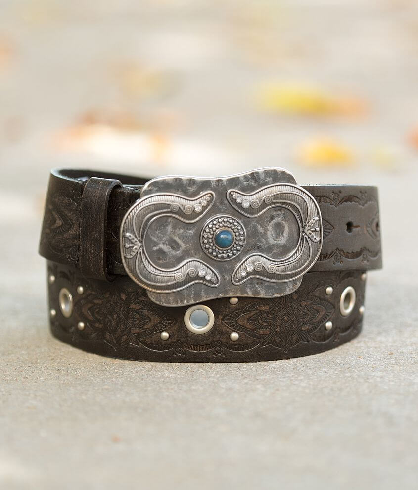 BKE Embossed Leather Belt front view