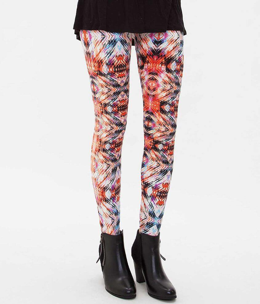 Hot Kiss Printed Legging front view