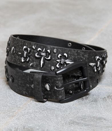 B Icon Studded Leather Belt