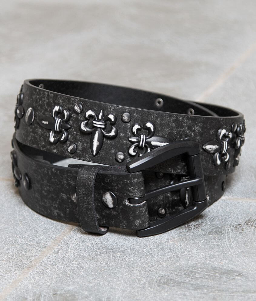 B Icon Studded Leather Belt front view