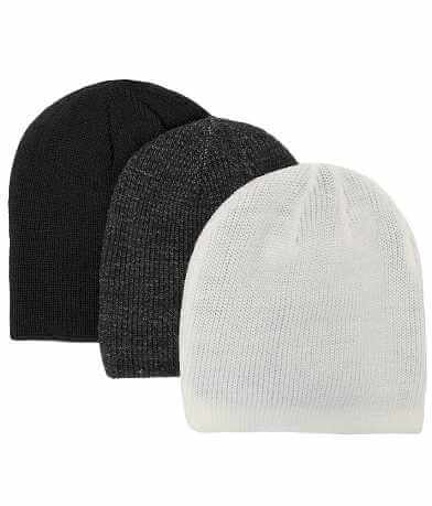 BKE Ridge Three Pack Reversible Beanies