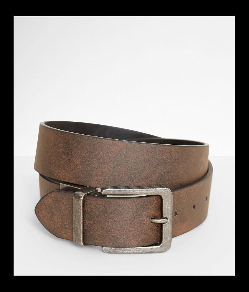 BKE Riser II Reversible Leather Belt front view