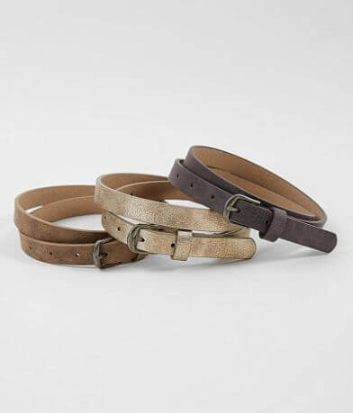 BKE Leather Belt Set