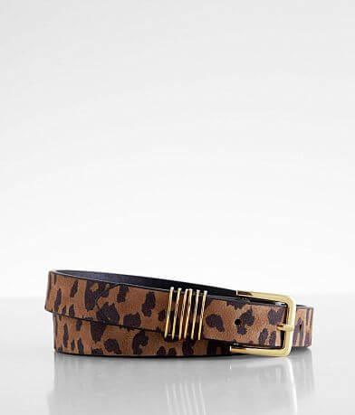 BKE Leopard Skinny Belt