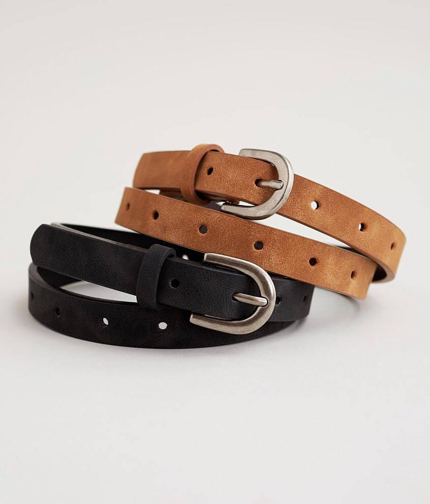 BKE Basic Skinny Belt Set front view