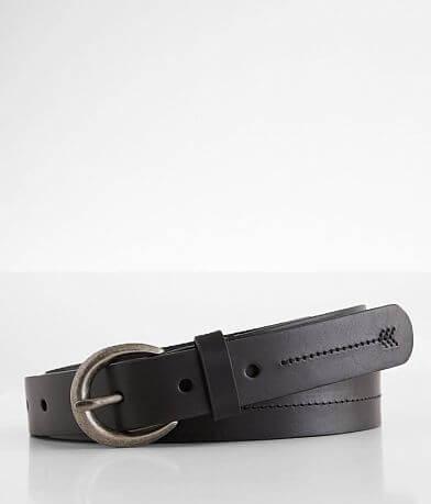 BKE Tonal Embroidered Stitch Leather Belt
