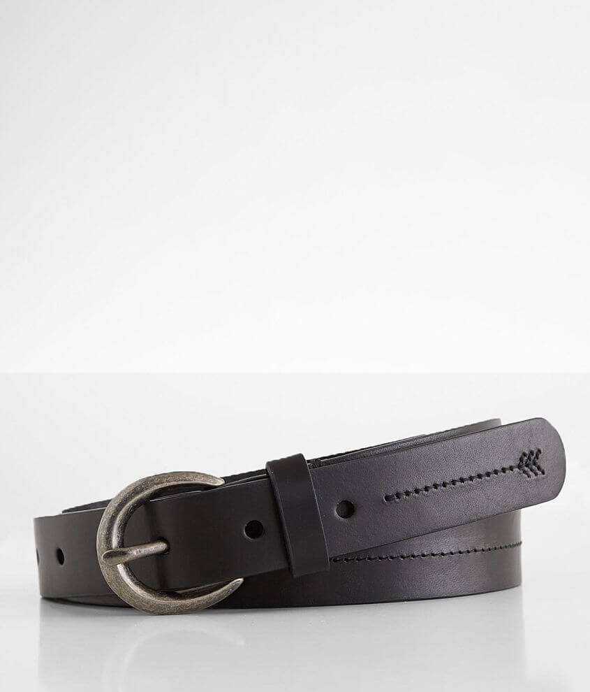 BKE Tonal Embroidered Stitch Leather Belt front view