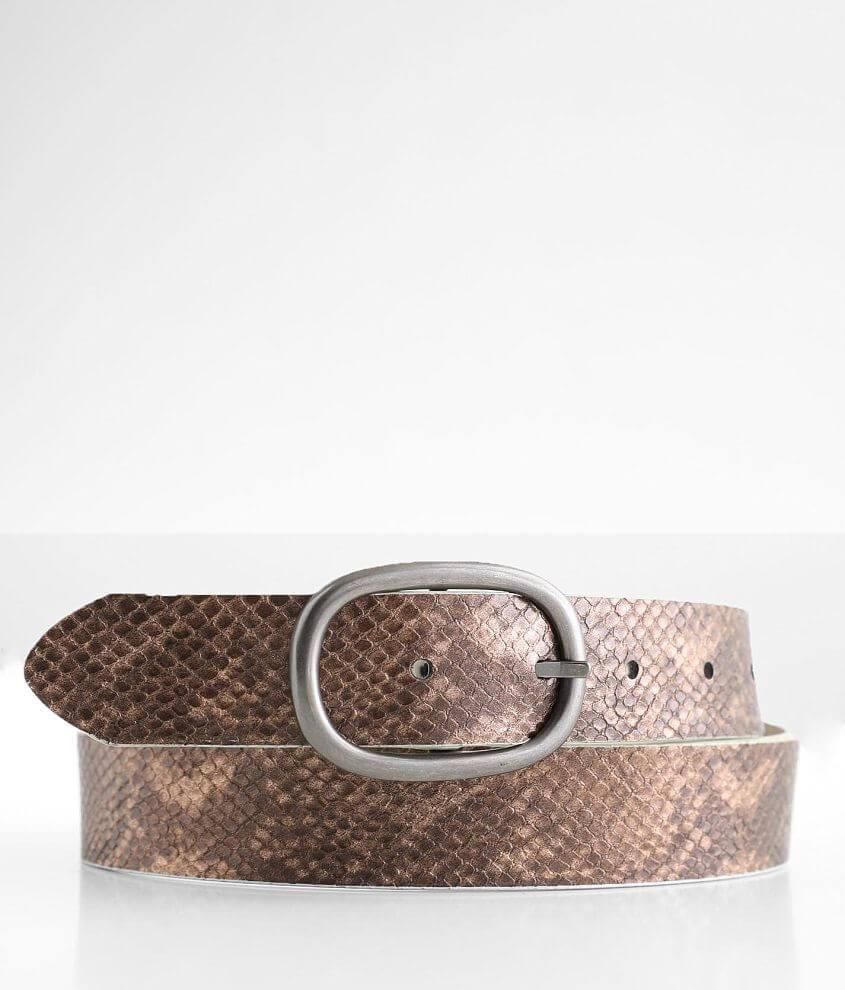 BKE Reversible Snake Print Belt front view