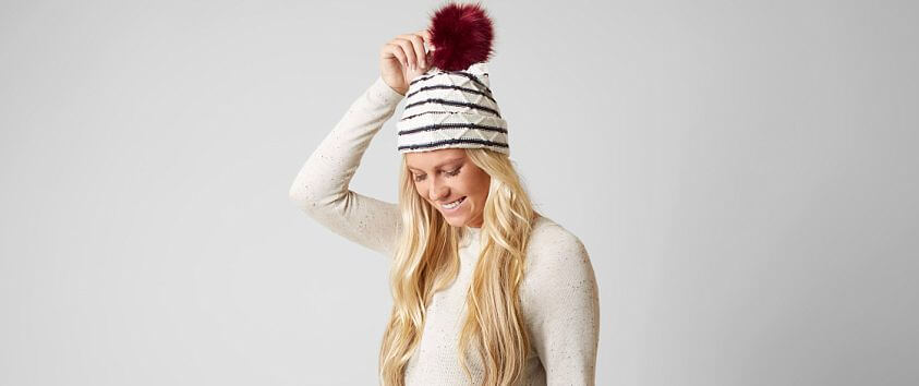 Striped Beanie front view
