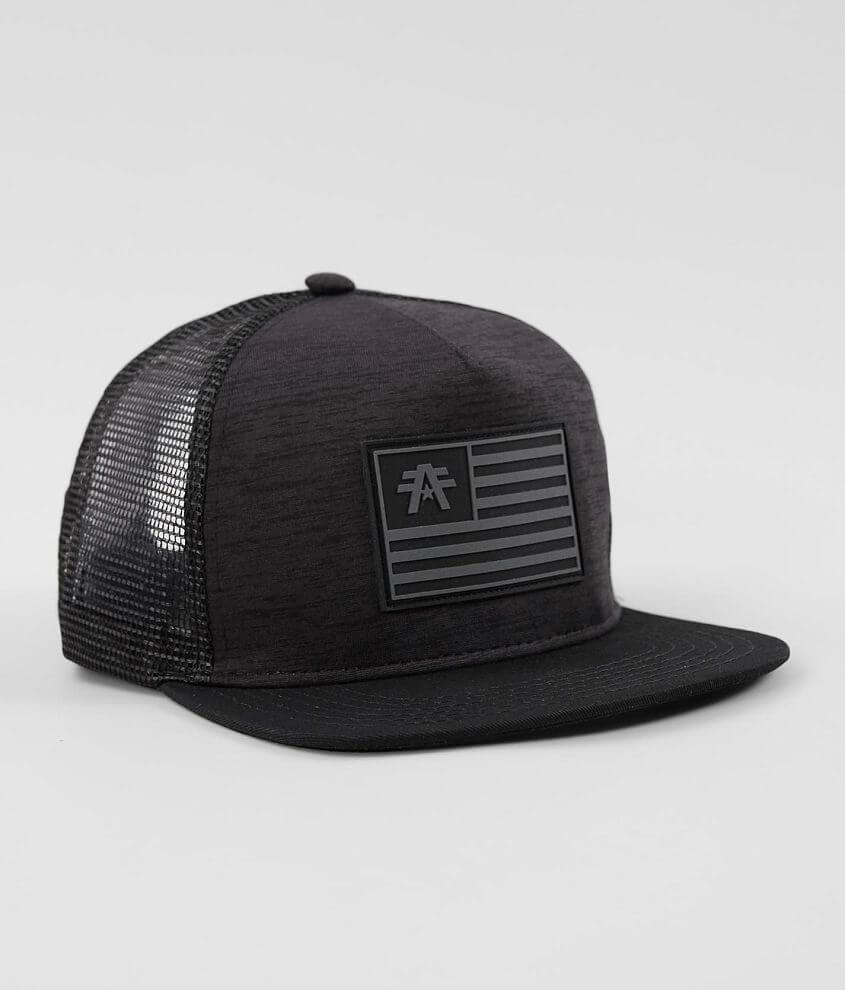 Rubber flag patch mock twist snapback hat One size fits most