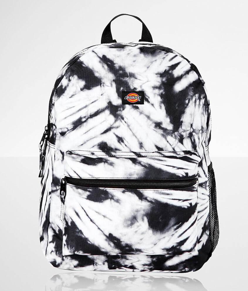 Printed canvas backpack Zipper closures Side water bottle pocket Padded adjustable shoulder straps Dimensions: 13\\\