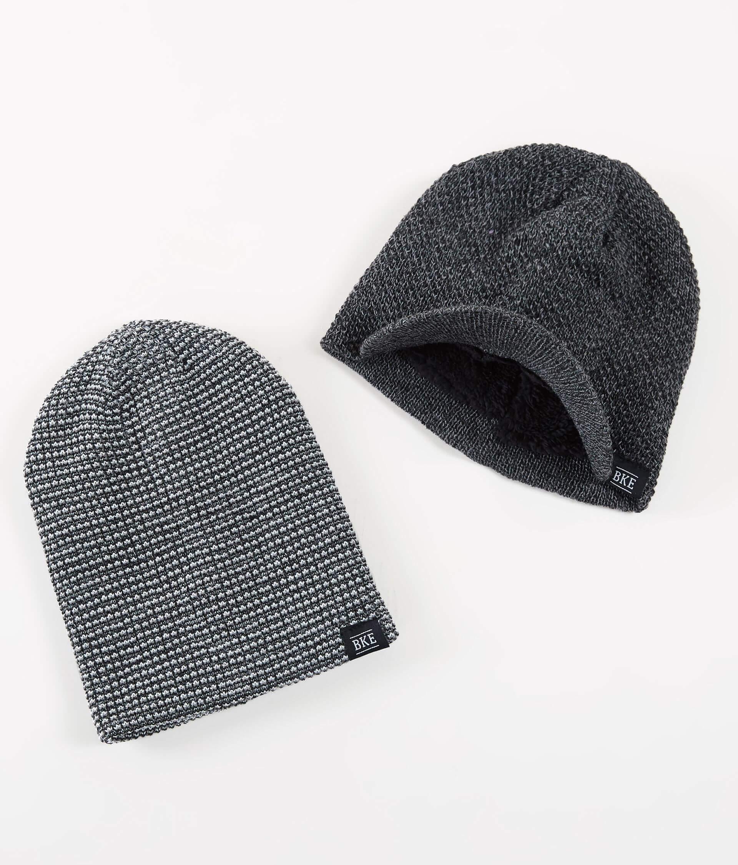 550e558dc23 BKE 2 Pack Beanie - Men s Hats in Gray Black