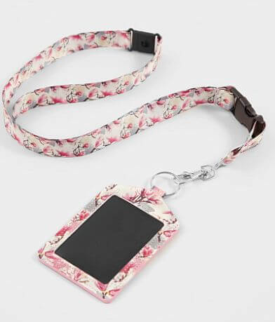 BKE Watercolor Floral Lanyard